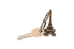Supporto chiave della Torre Eiffel Fotografia Stock Libera da Diritti