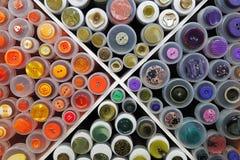 Supporto con i campioni dei bottoni, Fotografia Stock Libera da Diritti