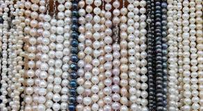 Supporto con le collane delle perle Fotografia Stock Libera da Diritti