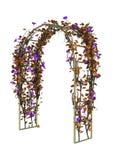 supporto conico del giardino della rappresentazione 3D su bianco Fotografia Stock Libera da Diritti