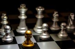 Supporto da un concetto Odd Chess di individualità della folla Fotografie Stock