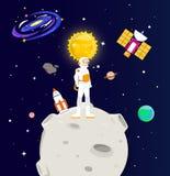 Supporto degli astronauti sulla luna Fotografia Stock Libera da Diritti