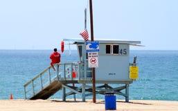 Supporto del bagnino alla spiaggia Fotografia Stock
