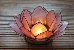 Supporto del candeliere del loto Fotografie Stock Libere da Diritti