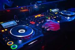 Supporto del deejay Fotografie Stock