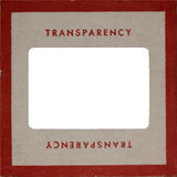 Supporto del Pressboard della trasparenza dell'annata Fotografia Stock