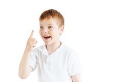 Supporto del ragazzino su fondo bianco Immagini Stock Libere da Diritti