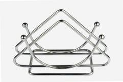 Supporto del tovagliolo del metallo della cucina Fotografie Stock