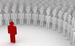 Supporto dell'azienda leader l'altra gente Immagine Stock