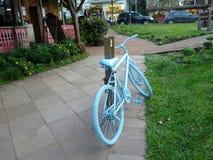 Supporto della bicicletta sulla via Immagine Stock Libera da Diritti