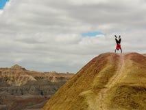 Supporto della mano nel parco nazionale dei calanchi fotografia stock
