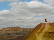 Supporto della mano nel parco nazionale dei calanchi in Sud Dakota fotografie stock