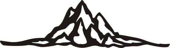 Supporto della medaglia di scalata di montagna Fotografia Stock