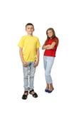 Supporto della ragazza e del ragazzo Immagini Stock Libere da Diritti