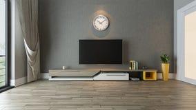 Supporto della TV nell'idea della decorazione del salone Immagine Stock Libera da Diritti