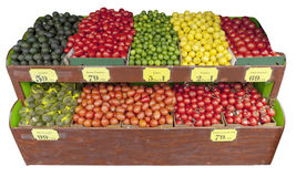 Supporto della verdura e della frutta fotografia stock