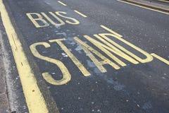 Supporto di bus fotografie stock libere da diritti