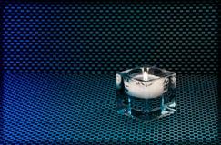 Supporto di candela di vetro Immagini Stock