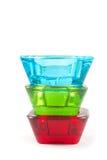 Supporto di candela di vetro multicolore vibrante Immagini Stock Libere da Diritti