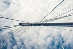 Supporto di cavo del ponte Immagini Stock
