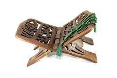 Supporto di Corano con il rosario Fotografie Stock Libere da Diritti