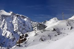 Supporto di Elbrus Fotografie Stock Libere da Diritti