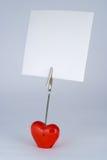 Supporto di figura del cuore Fotografia Stock Libera da Diritti