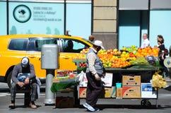 Supporto di frutta di New York Fotografia Stock Libera da Diritti