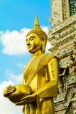Supporto di immagine di Buddha davanti alla pagoda Fotografie Stock Libere da Diritti