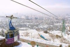 Supporto di Kok-tobe a Almaty, il Kazakistan Fotografie Stock Libere da Diritti