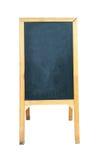 Supporto di legno del bordo del menu isolato su fondo bianco, picchiettio di taglio fotografia stock
