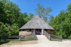 Supporto di legno Vernon Washington della cabina fotografia stock libera da diritti