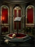 Supporto di libro in un tempio rosso Fotografie Stock