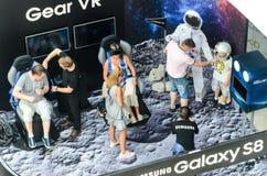 Supporto di mostra di Samsung di realtà virtuale Immagini Stock Libere da Diritti