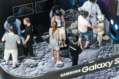 Supporto di mostra di Samsung di realtà virtuale Immagini Stock