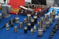 Supporto di perforazione di alta precisione, mandrino di fresatura ed anello per hig Fotografia Stock Libera da Diritti