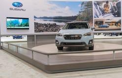 Supporto di Subaru su esposizione fotografia stock libera da diritti