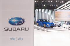 Supporto di Subaru su esposizione durante l'esposizione automatica della LA immagini stock