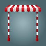 Supporto di vendita con la tenda rossa royalty illustrazione gratis