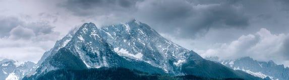 Supporto di Watzmann vicino al lago Konigssee, Berchtesgaden Fotografie Stock