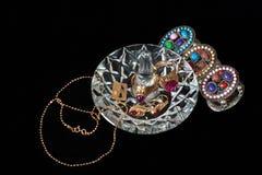 Supporto e braccialetto di cristallo Fotografia Stock