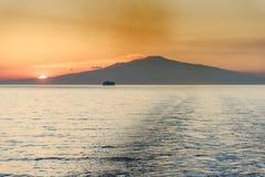 Supporto Etna Sunset Sicily Fotografia Stock