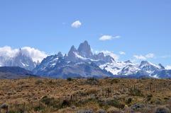 Supporto Fitz Roy nella Patagonia, Argentina Fotografie Stock Libere da Diritti