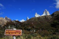 Supporto Fitz Roy, parco nazionale di Los Glaciares, Argentina Fotografie Stock Libere da Diritti