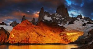 Supporto Fitz Roy, Patagonia, Argentina Immagine Stock Libera da Diritti