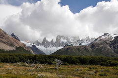 Supporto Fitz Roy Patagonia, Argentina Immagini Stock