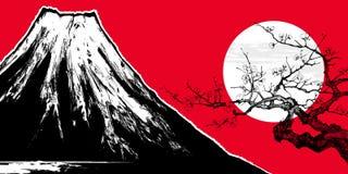 Supporto Fuji nel Giappone illustrazione di stock
