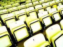 Supporto giallo di calcio Fotografie Stock