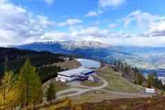Supporto Goldeck nella caduta Le alpi, Carinzia, Austria Fotografie Stock Libere da Diritti