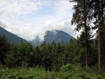 Supporto HoherGoll con le nuvole in Austria Fotografia Stock Libera da Diritti